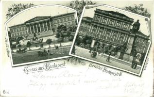 1898 Budapest, Nemzeti Múzeum, Akadémia litho (EK)