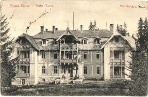 Tátra, Matlárháza, Tatranské Matliare; szálló, kiadja Kuszmann Gyula / hotel (EK)