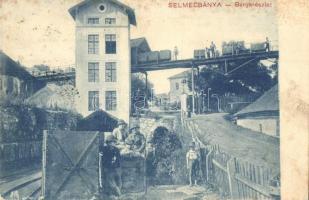 Selmecbánya, Banska Stiavnica; Bánya részlet. Joerges kiadása / mine (EK)