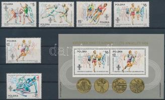1984 Olimpia, Los Angeles sor Mi 2913-2918 + blokk Mi 94