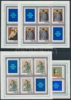 1971 Bélyegnap; Festmények kisívsor Mi 2110-2117 (4 db stecklapon)