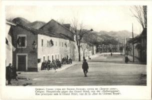 Cetinje, Cettigne; Hauptstrasse, Grand Hotel / main street, hotel