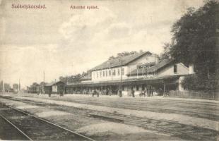 Székelykocsárd, Lunca Muresului; Vasútállomás. Adler fényirda / railway station (EK)