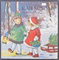 1986 Karácsony régi képeslapokon. Terra - Kossuth Nyomda, Budapest. Nagy alakú album rengeteg színes képpel