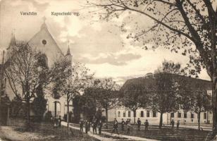 Varasd, Warasdin, Varazdin; Kapucinski trg / Capuchin square, church (EK)