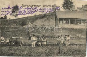 Kárpátok, Rutén népviselet / Ruthen (Rusyn) village, folklore