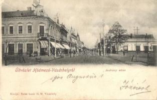 Hódmezővásárhely, Andrássy utca, kiadja Reisz bazár (EK)