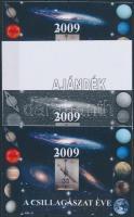 2009/08 Csillagászat 4 db-os emlékív garnitúra (28.000)