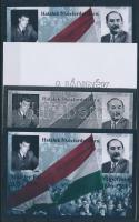 2008/35 Nagy Imre - Maléter Pál 4 db-os emlékív garnitúra (28.000)