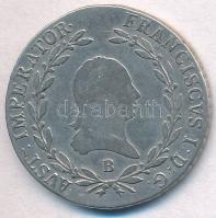 1813B 20kr Ag Ferenc T:2-,3 ph., karc Unger III.: 1379.a