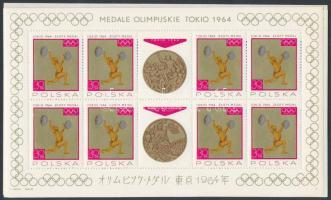 1965 Olimpiai érmesek kisív sor Mi 1623-1630