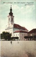 Máramarossziget, Sighetu Marmatiei; Római katolikus templom, Kegyesrendi gimnázium / church, grammar school