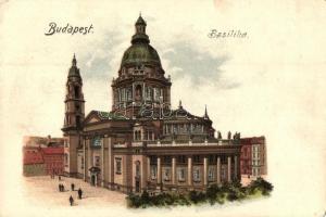 Budapest V. Bazilika, litho (EK)
