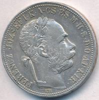 1888KB 1Ft Ag Ferenc József / Barokk címer T:2 ph., karc Adamo M15