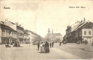 Kassa, Kosice; Fő utca alsó része, Adriányi Markó üzlete / main street, shop (Rb)