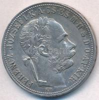 1887KB 1Ft Ag Ferenc József / Barokk címer T:1-,2 ph. Adamo M15