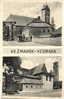 Késmárk, Kezmarok; Római katolikus templom és evangélikus fatemplom / churches, wooden church