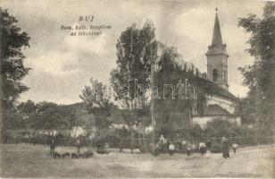 Buj, Római katolikus templom és iskola (gyűrődés / crease)