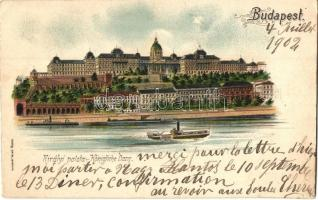 Budapest I. Királyi palota. Gustav Ertel litho