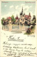 1899 Budapest XIV. Vajdahunyad, Kunstanstalt Kosmos litho