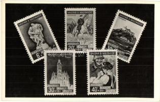 1938-1939 Magyar a magyarért Alkalmi bélyegsorozat, Marer Béla kiadása / Hungarian commemorative stamps