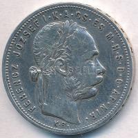 1881KB 1Ft Ag Ferenc József / Középcímer T:2,3 kis ph. Adamo M15