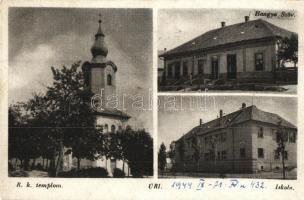 Úri, Római katolikus templom, iskola, Hangya szövetkezet