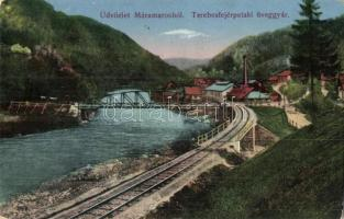 Terebesfejérpatak, Dilova; Üveggyár. Wizner és Dávid kiadása / glass factory