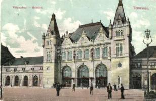 Temesvár, Timisoara; vasútállomás / railway station (EM)