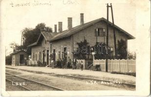 Lövő, Duna-Száva-Adria (DSA) vasútállomás, photo (EK)