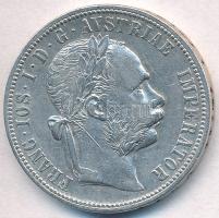 Ausztria 1891. 1Fl Ag Ferenc József T:2,2- ph., karc Austria 1891. 1 Florin Ag Franz Joseph C:XF,VF edge error, scratched Krause KM#2222
