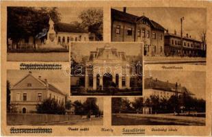 Szentlőrinc, Baranyaszentlőrinc; vasútállomás és szálloda, gazdasági iskola, kastély, hősök szobra