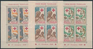 1959 Vöröskereszt blokksor Mi 2-4