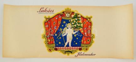 cca 1910-1920 Lukács Csokoládégyár szaloncukor papír szép állapotban, 47x19 cm