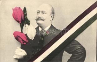 Kossuth Ferenc, politikus; tulipános, magyar hazafias propaganda / politician, tulip, Hungarian patriotic propaganda (EK)
