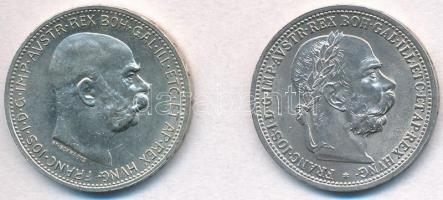 Ausztria 1901-1914. 1K Ag Ferenc József (2xklf) T:1- Austria 1901-1914. 1 Corona Ag Franz Joseph (2xdiff) C:AU