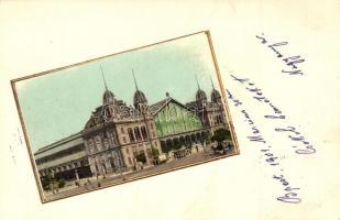 Budapest VI. Nyugati pályaudvar, aranyozott kerettel