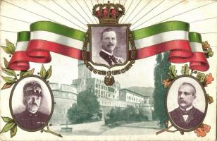 WWI Italian Allied Forces, the leaders of Italy: King Victor Emmanuel III, General Armando Diaz, General Luigi Cadorna, patriotic propaganda (EK)