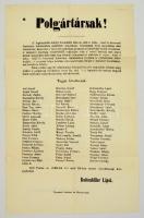 1848 Pest, Polgártársak! - a forradalmi plakát reprint kiadása, 59x37 cm