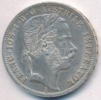 Ausztria 1871A 1Fl Ag Ferenc József T:1- kis ph Austria 1871A 1 Florin Ag Franz Joseph C:Au small edge error Krause KM#2221
