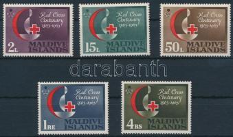 1963 100 éves a Vöröskereszt sor Mi 124-128