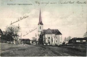 Tardoskedd, Tvrdosovce; Fő tér a templommal / square, church