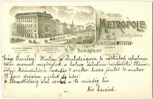 Budapest VII. Petánovits József Hotel Metropole szállodája és kávéháza, Kerepesi út 58.