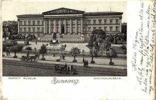 Budapest VIII. Nemzeti Múzeum, litho