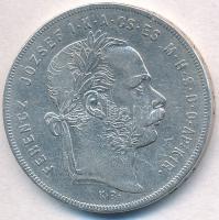 1878KB 1Ft Ag Ferenc József / Középcímer T:2 kis ph. Adamo M15