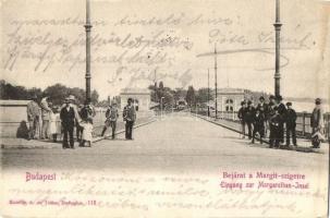 Budapest XIII. Bejárat a Margitszigetre, híd. Komlós A. és Társa