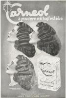 A modern nő hajfestéke Carneol reklám, Andrássy Mária fotójával, Kanitz Iván és Társa / Hungarian hair dye advertisement (EK)