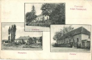 Felsőtárkány, Erdészlak, Plébánia, Községháza (EK)