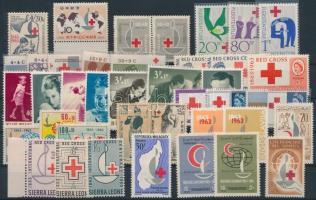 Vöröskereszt motívum 1963 40 klf bélyeg, közte sorok