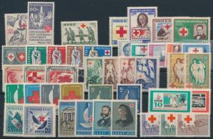 Vöröskereszt motívum 1945-1963 40 klf bélyeg, közte sorok
